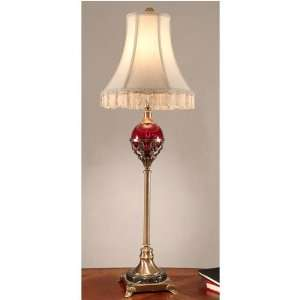 Dale Tiffany Antique Bronze and Marble Buffet Lamp