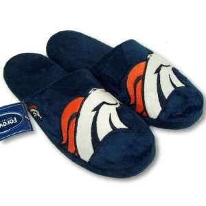 DENVER BRONCOS OFFICIAL LOGO PLUSH SLIPPERS SZ XL Sports