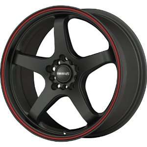 Tenzo R Meister Black Red Stripe Wheel (17x7/5x100mm