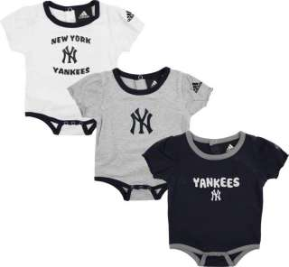 New York Yankees adidas 3 Piece Newborn/Infant Girls Body Suit Set