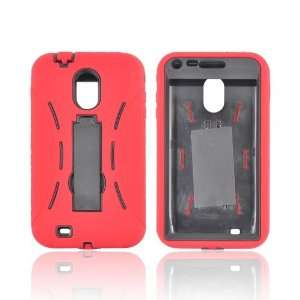 For Samsung Epic 4G Touch Red Black Hard Silicone Case