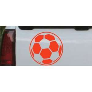 Red 16in X 16.0in    Soccer Ball Sports Car Window Wall Laptop Decal
