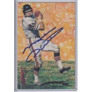 Mike Ditka Autographed Ball   HOF Card JSA   Autographed