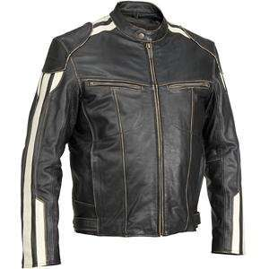 River Road Roadster Vintage Leather Jacket   52/Black