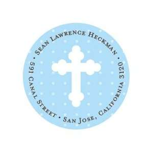 Blue Polka Dots with Cross Stickers