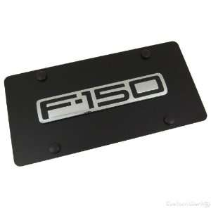 Ford F 150 Chrome Name Badge On Black License Plate
