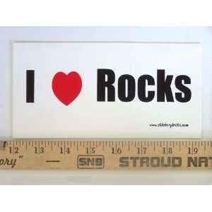 * Magnet* I Love Rocks Magnetic Bumper Sticker Automotive