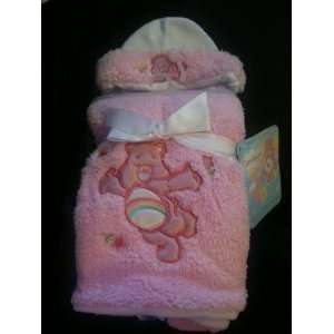Care Bears Pink Poodle Blanket and Hat 30 X 40 Baby