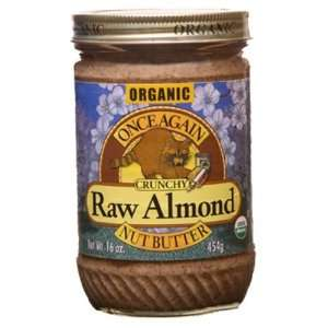 Once Again 100% Organic Raw Crunchy Almond Butter 16 oz. (Pack of 12