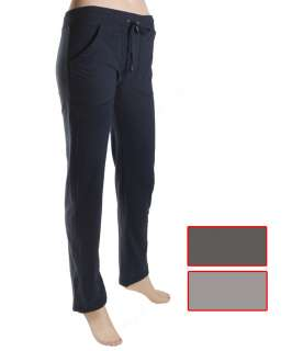 Womens yoga sport gym lounge french terry pants,black,blue,drawstring