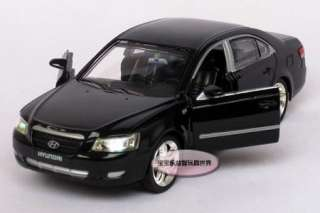 New Hyundai Sonata 132 Alloy Diecast Model Car With Sound&Light Black