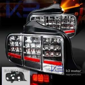 2005 2006 2007 Ford Mustang Led Tail Lights Lamps Black