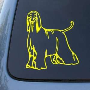 AFGHAN   Dog   Vinyl Car Decal Sticker #1481  Vinyl Color