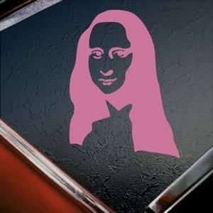 MONA LISA SILHOUETTE Pink Decal Car Truck Window Pink