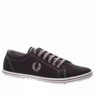 Fred Perry Kingston Twin Tipped Uk Size Black Trainers Shoes Mens New