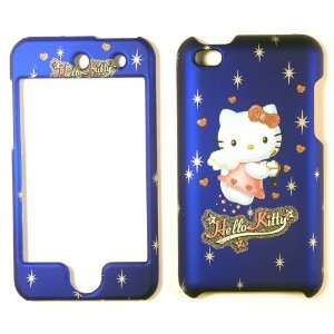 Hello Kitty Blue Apple iTouch 4 Faceplate Case Cover Snap
