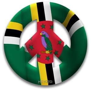 Peace Symbol Removable Vinyl Sticker of Dominica Patio