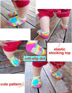 Unisex Baby Kids Toddler Girl Boy Anti Slip Socks Shoes Slipper