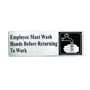 3 x 9 Employee Must Wash Hands Before Returning to Work