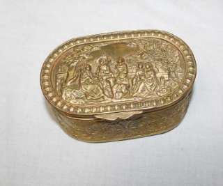 Antique French Art Nouveau Bronze Jewelry Box Case 1920