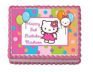 HELLO KITTY Edible Personalized Cake Image Supply Party