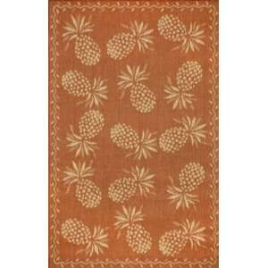 Trans Ocean Thatcher (Tommy Bahama) Pineapple Terracotta Rug   1 11 x