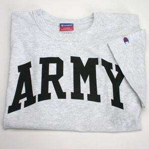 Arched army T shirt By Champion   Ash Gray   Medium