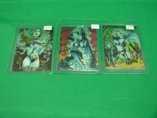 Lady Death 1 Chase Cards 2, 4, 5 (Jim Balent, Greg Capullo, Steven