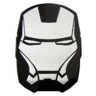 Iron man Ironman Aluminum Large Emblem Decal Black
