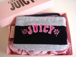 Juicy Couture Girls Velour Wristlet Stripe Kids Bag in Pink Gift Box