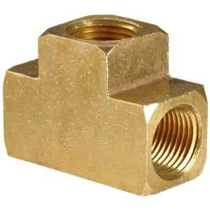 Anderson Metals Brass Pipe Fitting, Barstock Tee, 3/8 x 3/8 x 3/8