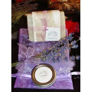 Lavender All Natural, Handcrafted Shea Butter Soap & Lotion Bar Set