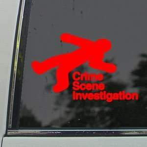 Crime Scene Investigation Red Decal Truck Window Red