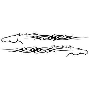HORSE TRAILER DECALS, TRIBAL Horse, RV, TRUCK, WALLART