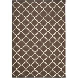 Safavieh Dhurrie Collection DHU554C Handmade Brown and Ivory Wool