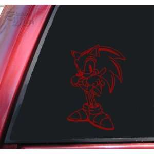 Sonic The Hedgehog Vinyl Decal Sticker   Dark Red