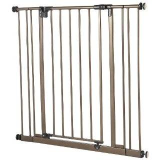 North States Supergate Easy Close Metal Gate, Bronze