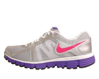 Nike Dual Fusion ST 2 GS Silver Pink Purple White Youth Running Shoes