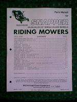 SNAPPER REAR ENGINE RIDING MOWER 25   33 PARTS MANUAL