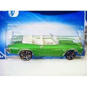 Hot Wheels 70 1970 Green Convertible Chevy Chevelle 2010 Faster Than