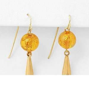 MURANO GLASS 14K Gold Earrings MURANO GLASS Jewelry