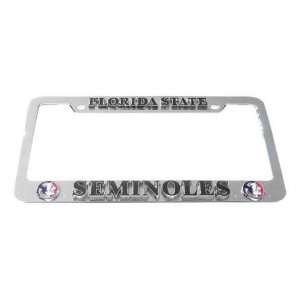 Florida State Seminoles License Plate Tag Frame  Sports