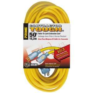 Prime Wire & Cable EC730830 50 Foot 12/3 SJTW Twist to Lock Contractor