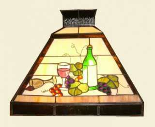 ART DECO STAINED GLASS POOL TABLE BILLIARD LIGHT