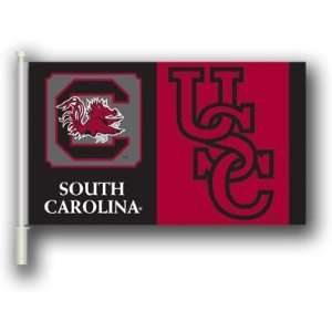 NCAA South Carolina Gamecocks 11x18 Car Flags with Bracket