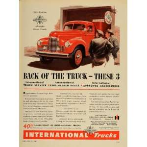 1947 Ad International Harvester Trucks Anniversary Service Heavy Duty