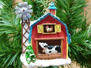 New Rooster Cow Barn Animal Wind Mill Farm Ornament