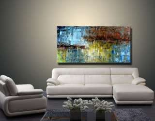 WKS Modern Original Abstract Landscape Palette Knife Art Deco Oil