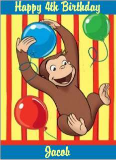 Edible Cake Topper Curious George #11 1/4 sheet