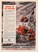 1945 International Harvester Bulldozer/Tractor print ad